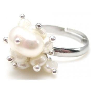 Ferskvandsperle ring