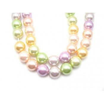 Shell Perle 8 mm rosa mix 1...