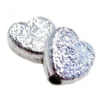 Silkebørstet hjerte - 2 stk