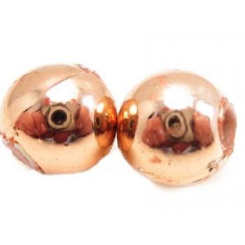 Kobber perler 6mm/2mm - 8stk