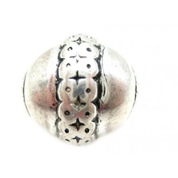 Flot perle i sølv plate 18...