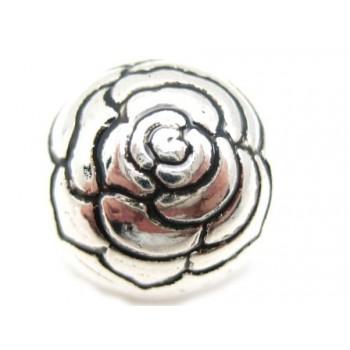 Rosen perle i sølv plate 12mm