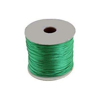 Satin snor 2mm - grøn - 10m