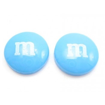M & M   14 mm blå - 2 stk