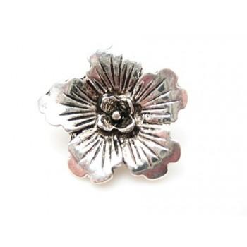 Smuk blomster knap antik sølv 18 / 2 mm HOT