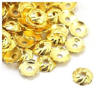 Perleskål 9 mm - guld - 20 stk