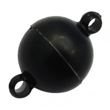 Kugle lås sort Akryl 10 mm