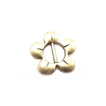 Blomst til bånd / spænde guld 17 mm