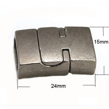 Rustik magnet lås - sort - indv 11 x 5 mm