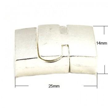 Rustik magnet lås - sølv - indv 11 x 5 mm