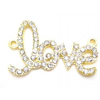 LOVE forbindelses led Guld - 36 mm