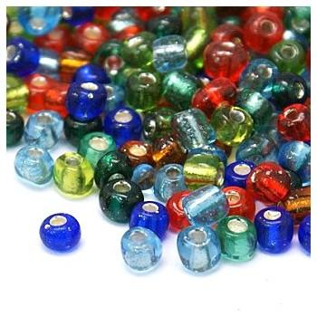 Seed bead mix med sølv 4 /...