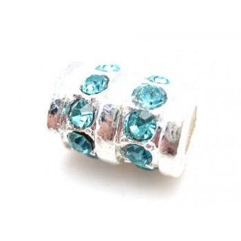 Perle med stene 13 / 5 mm...