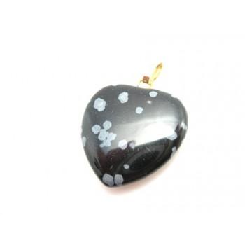 Sten hjerte Obsidian sten 20 mm