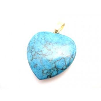 Sten hjerte Turkis sten 20 mm
