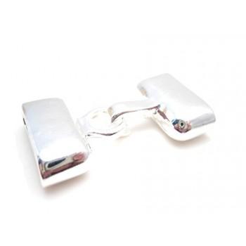 Lås med enderør og krog - sølv