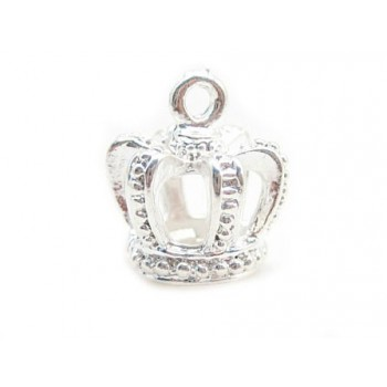 Konge krone 15 x 12 mm sølv