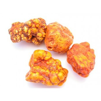 Howlite nuggets orange    - 4 stk