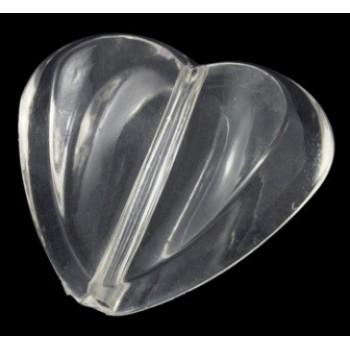 Hjerte 30 / 2,7 mm klar - 2 stk