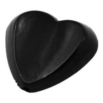 Hjerte 30 / 2,7 mm sort - 2 stk