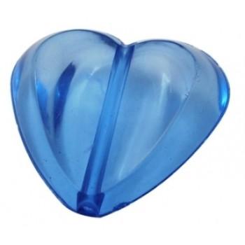 Hjerte 30 / 2,7 mm blå - 2 stk