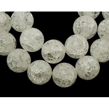 Bjerg krystal krakeleret 10 mm - 1 streng