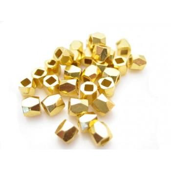 Nugget 3,5 / 1,5 mm guld - 35 stk