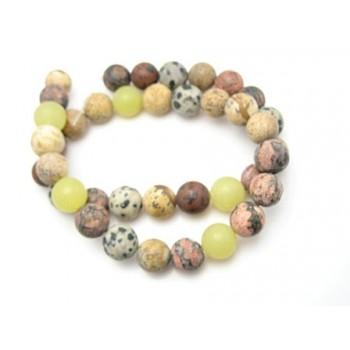 Natur skrubbede perler 10 / 1 mm - 1 streng