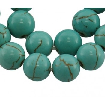 Howlite turkis  8 / 1  mm...