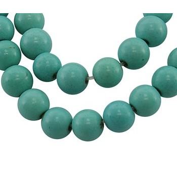 Howlite turkis sten perle 4 / 1 mm - 40 stk