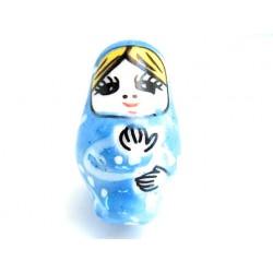 Babushka lys blå 25mm