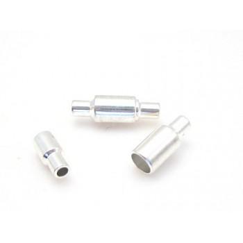 Magnet lås 16 mm / 2 mm sølv - 2 STK