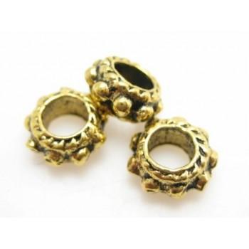 Rondel guld belagt 6 / 3 mm - 3 stk