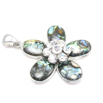 Abalone blomst med stene 40 mm