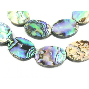 Abalone perle oval 18 mm -  2 stk
