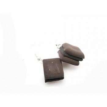 Lakridskonfekt øreringe brun / sort