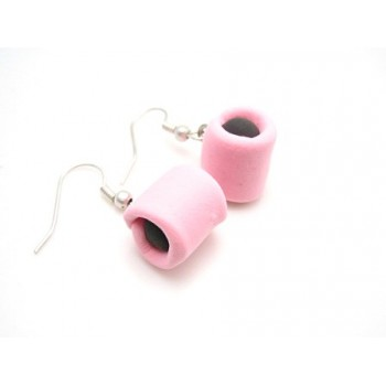 Lakridskonfekt øreringe rosa / sort