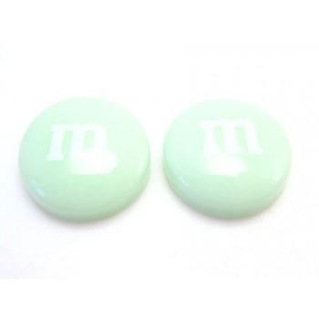 M & M    14 mm mint grøn - 2 stk