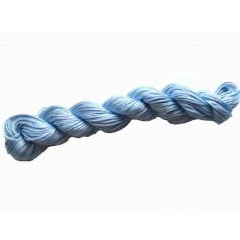 Knyttesnor 1,7 mm x 18 m syntetisk lys blå