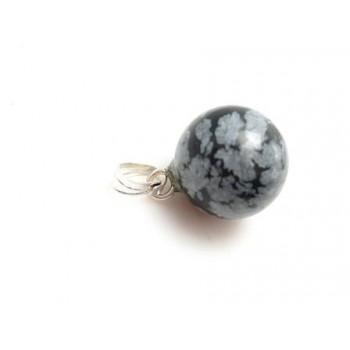 Sten vedhæng snowflake 12 mm