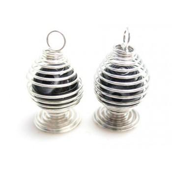Perle i bur - bordeaux - 2 stk
