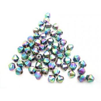 Glas perle facet 4 mm - 70...