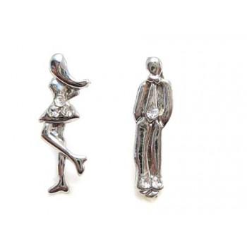 Hotte ørestikker Mand / Kvinde med stene - 1 par