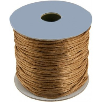 Satin snor 2mm -  Lys brun...