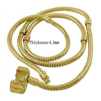 Halskæde til led 50 cm guld