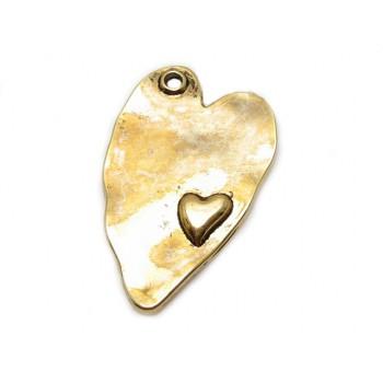 Hjerte antik guld 38 / 2,5...
