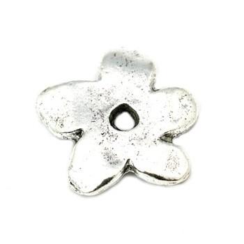 Blomst antik sølv 19,5 mm /...