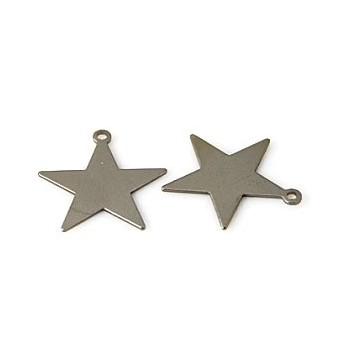 Stjerne flad sort 16 mm - 6 stk
