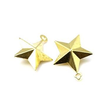 Stjerne guld  19 mm - 4 stk