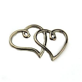 Tvilling hjerte sort 35 x...